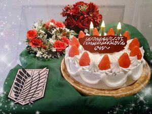 リヴァイ生誕祭ケーキ