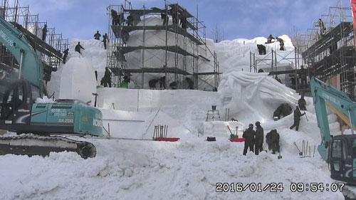 さっぽろ雪祭り製作風景