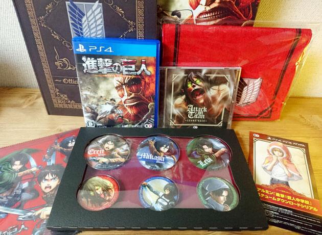 【進撃の巨人】PS4・PS3・PSVitaゲーム「TREASURE BOX」