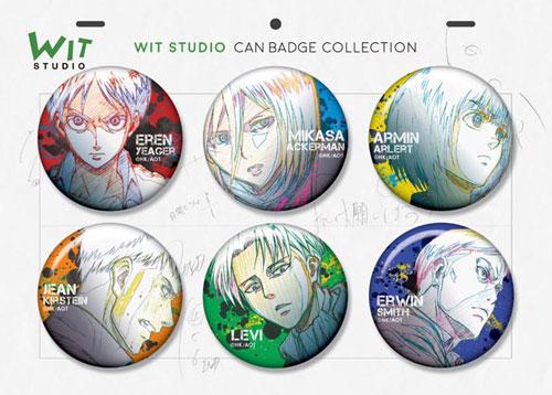 「WIT STUDIO缶バッジコレクション」