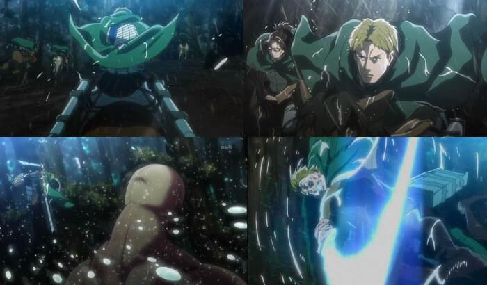 巨人との戦闘