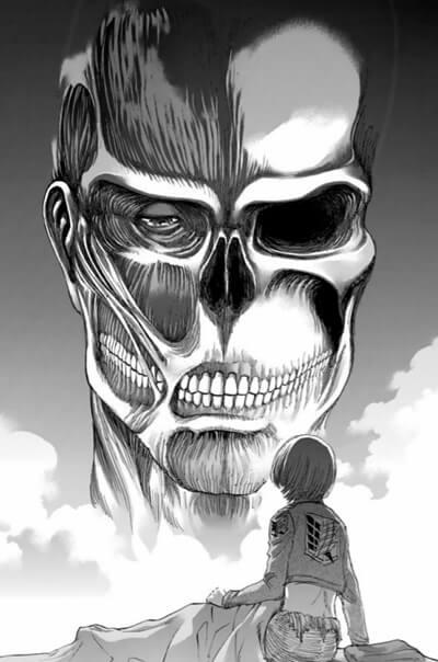 超大型巨人とアルミンの描写