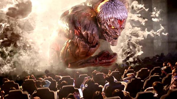 進撃の巨人ザリアル4Dイメージ