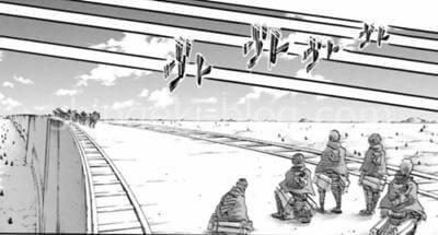 壁の上を懸ける調査兵団