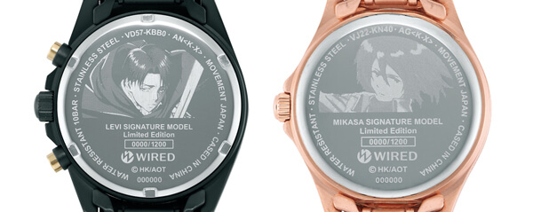 ワイヤード腕時計
