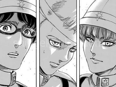 表情が一変する3人
