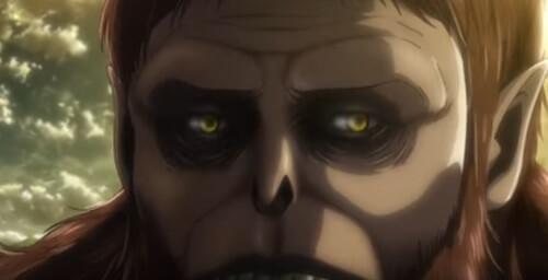 獣の巨人の不気味な表情