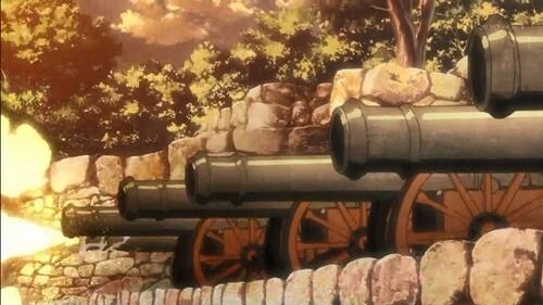 大砲で巨人を打つ