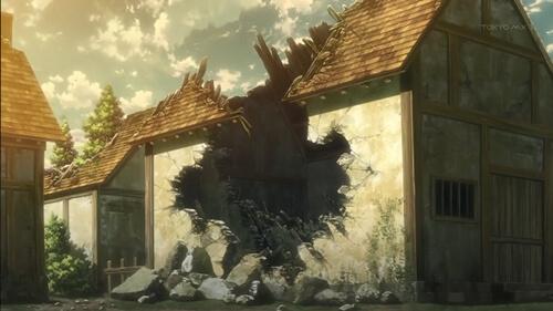 破壊されている家屋