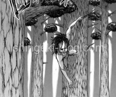 樹木に掴まるユミル