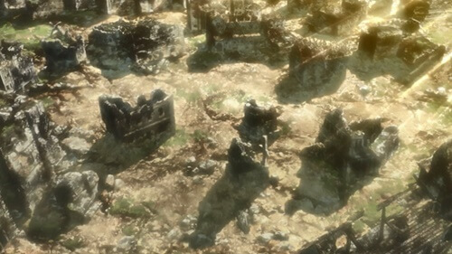 廃墟のような場所