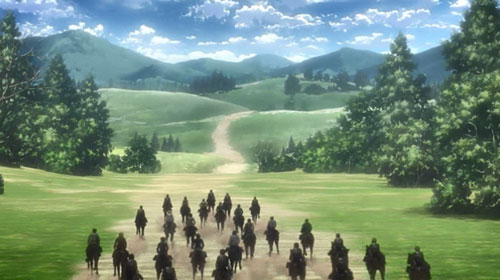 馬を走らせる