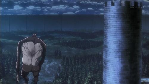 壁へ歩く獣さん