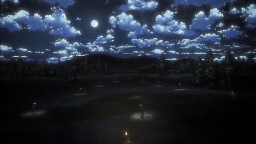 夜の平野をかける