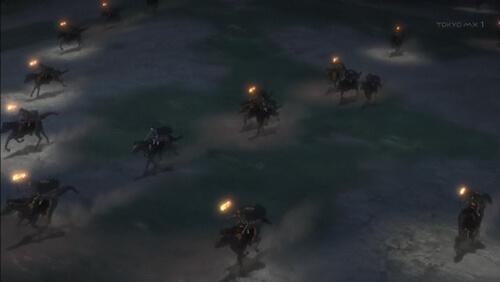 馬を駆ける