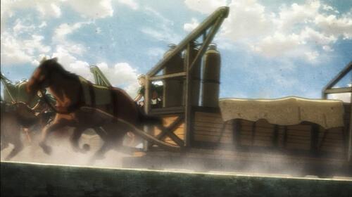 壁上を馬でかける