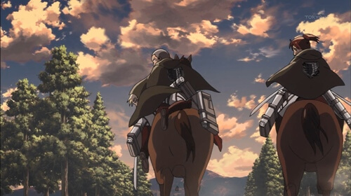 馬でかける