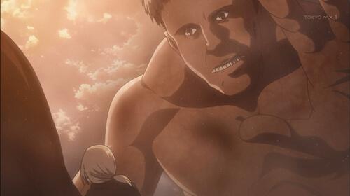 クリスタを襲う巨人