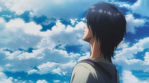 空を見上げるエレン