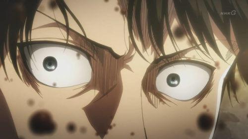 ショックの表情のリヴァイ
