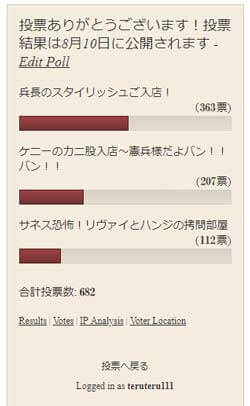 39話の投票結果