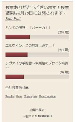 40話の投票結果