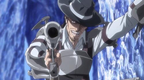 銃を構えるケニー