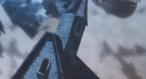 崩壊する建物