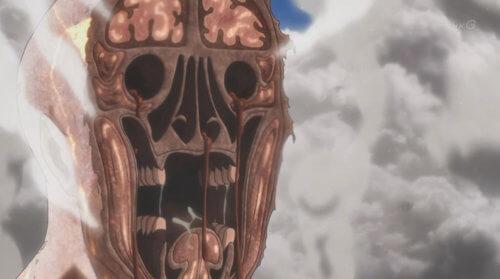 巨人の顔面