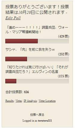 12話の人気投票結果