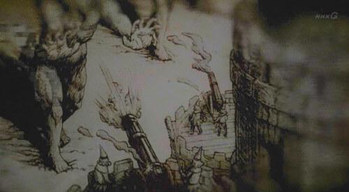 大砲を撃つ城