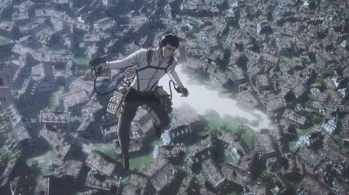 飛び上がるベルトルト