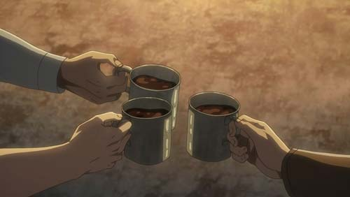 コーヒーで乾杯