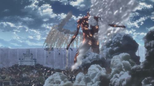 破壊する超大型巨人