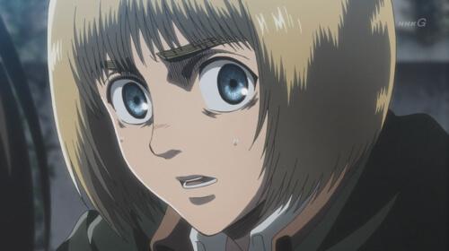 アルミンの表情