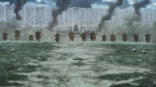 走ってくる兵士