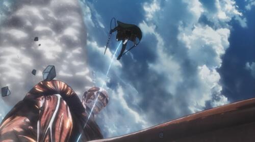 飛ぶアルミン