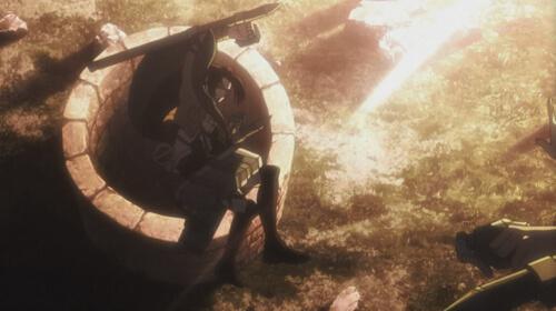 井戸に堕ちるハンジ