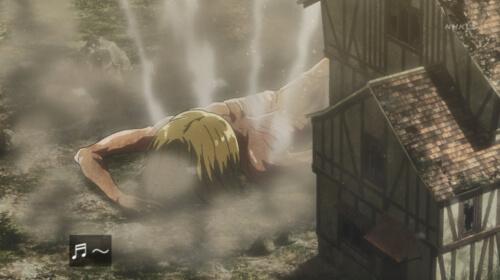 倒れるアルミン