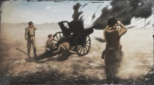 大砲を発射