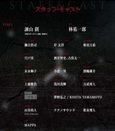進撃の巨人アニメ制作スタッフ