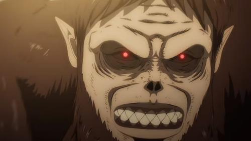 獣の巨人の顔